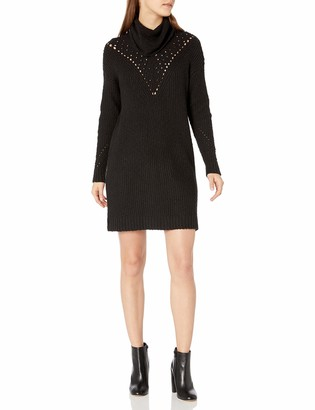 Kensie Women's Pointelle Sweater Dress