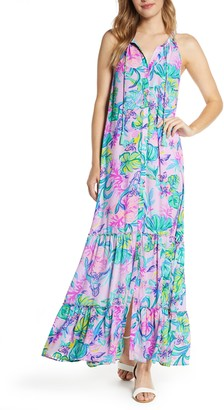 Lilly Pulitzer Luliana Button Front Maxi Dress