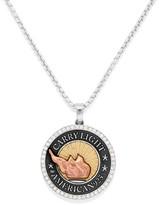 Alex and Ani LIBERTY COPPER Pavé Diamond CARRY LIGHTTM 14kt Gold Center Necklace, Large
