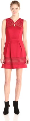 Jax Women's Fit and Flare in Scuba with Tonal Stripe Detail