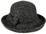 San Diego Hat Company Women's Winter Hats BLACK - Black Bow-Accent Kettle-Brim Hat