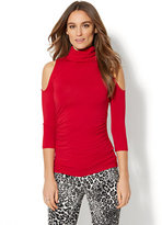New York & Co. 7th Avenue Design Studio - Cold-Shoulder Turtleneck