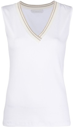 Fabiana Filippi Knit Detail Tank Top
