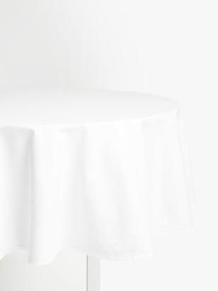 John Lewis & Partners Hem Stitch Round Cotton Tablecloth