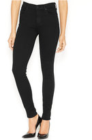 A Gold E Collette High-Waist Skinny Jeans, Luxe Black Wash