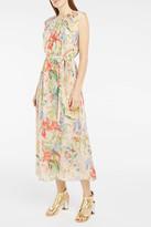 Rochas Floral-Print Georgette Dress