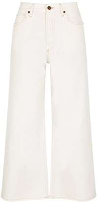 Citizens of Humanity Serena off white wide-leg jeans