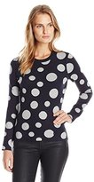 Armani Jeans Women's Pullover Polka Dot Sweater