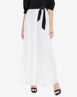 Express Endless Rose High Waisted Pleated Wide Leg Pant