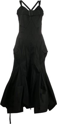 Junya Watanabe Front Buckle Criss-Cross Back Dress
