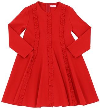 Il Gufo Milano Jersey Dress W/ Ruffles