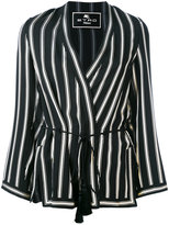 Etro striped wrap jacket - women - Silk/Acetate/Viscose - 40