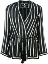 Etro striped wrap jacket