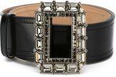 Alexander McQueen jewelled buckle belt