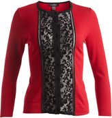 August Silk Ruby Lace-Panel Cardigan
