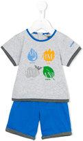 Armani Junior printed top and shorts set - kids - Cotton - 12 mth
