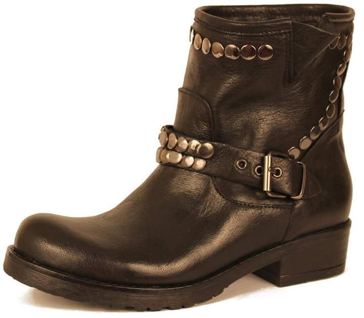 Cordani Black Leather Bootie