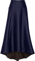 ADAM by Adam Lippes Asymmetric duchesse-satin maxi skirt