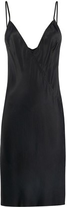 Rick Owens Neck Satin Slip Dress