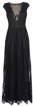 Lauren Ralph Lauren CAP SLEEVE LACE EVENING DRESS women's Long Dress in Black