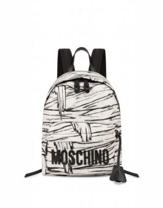 Moschino Mummy Medium Backpack Woman White Size U It - (one Size Us)