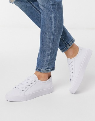 ASOS DESIGN Dizzy lace up sneakers in white