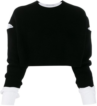 Alexander Wang cropped layered jumper