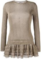 Valentino ruffled hem jumper - women - Viscose/Metallic Fibre - XS