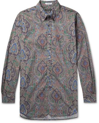 Engineered Garments Button-Down Collar Paisley-Print Cotton-Poplin Shirt