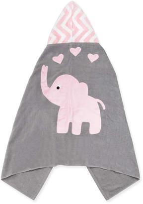 "Boogie Baby Big Foot"" Elephant Hooded Towel, Pink"