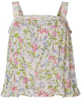 Twin-Set flared floral tank top