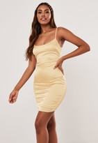 Missguided Tall Beige Satin Cami Mini Dress