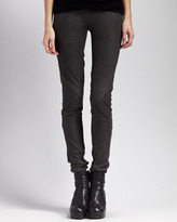 Rick Owens Stretch-Leather Leggings