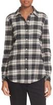 Elizabeth and James Women's Plaid Flannel Shirt