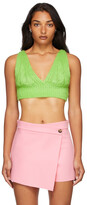 Thumbnail for your product : MSGM Green Cable Knit Bra