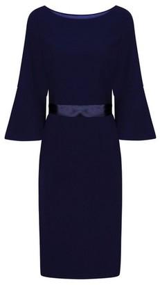 Dorothy Perkins Womens *Chi Chi London Navy Belted Midi Dress, Navy