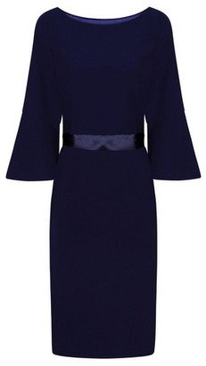 Dorothy Perkins Womens Chi Chi London Navy Belted Midi Dress, Navy