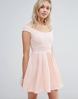 Wal G Off Shoulder Skater Dress