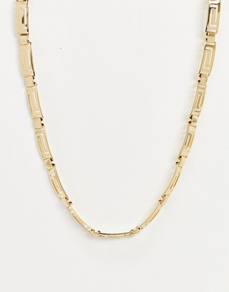Pieces vintage inspired necklace in gold