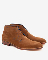Ted Baker Suede Derby Chukka Boots Tan