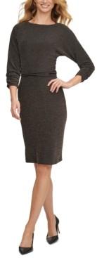 DKNY Blouson Knit Sheath Dress