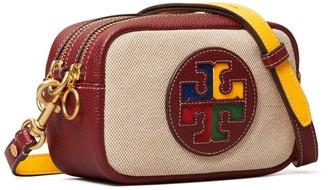Tory Burch Perry Color-Block Canvas Mini Bag