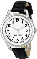 Nine West Women's NW/1699WTBK Easy To Read Watch with Black Strap