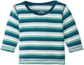 Kickee Pants Tee with Stitching (Baby) - Dino Stripe-Newborn