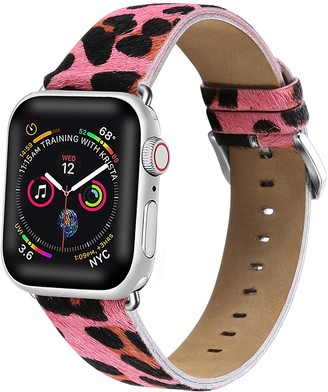 Posh Tech Pink Cheetah Calf Hair 38mm Apple Watch 1/2/3/4 Band