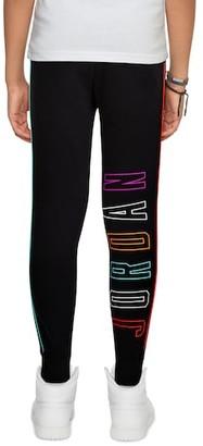 Jordan Air Future Pants - Black / Aurora Green Bright Crimson White - Fleece