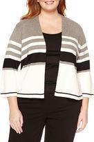 Liz Claiborne Long Sleeve Cardigan-Plus