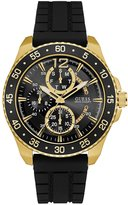 GUESS Black and Gold-Tone Sport Watch