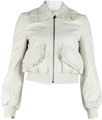 Fendi Ecru Leather Jackets