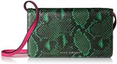 Marc Jacobs Block Letter Snake Leather Strap Wallet